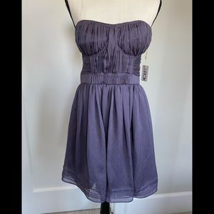 LaROK gorgeous, strapless, purple, dress. NWT. M
